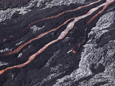 Flow Photograph - Lava Flow At Hawaii Volcano National Park by Dani Prints and Images