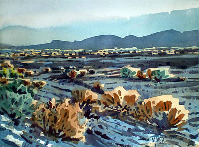 Death Valley Painting - Lava Flow In Death Valley by Donald Maier