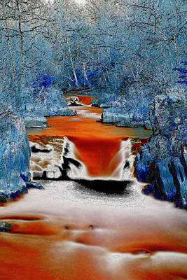 Photograph - Lava Flow Thru The Ice Forest by Steve Doris