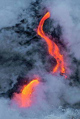 Photograph - Lava Flowing Into The Ocean 20 by Jim Thompson