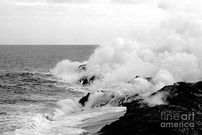 Lava Flowing To The Sea Art Print by Susan Chandler