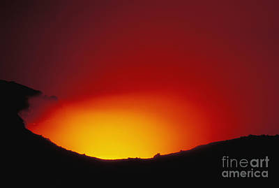 Lava Flows At Night Art Print by William Waterfall - Printscapes