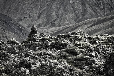 Photograph - Lava Formation And Mountains #3 - Iceland by Stuart Litoff