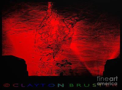 Digital Art - Lava Fountain by Clayton Bruster