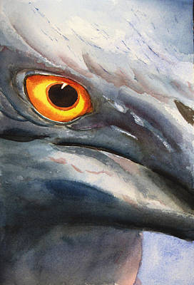 Painting - Lava Heron Eye by Libby  Cagle
