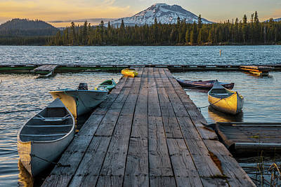 Photograph - Lava Lake Evening  by Matthew Irvin