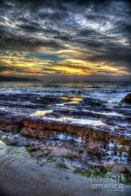 Photograph - Lava Layers North Shore Sunset Oahu Hawaii Art by Reid Callaway