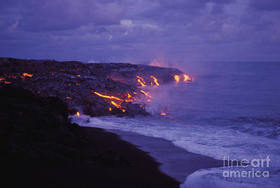 Photograph - Lava Meets The Sea by Peter French - Printscapes