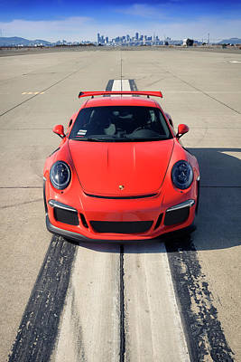 Photograph - Lava Orange #porsche 911 #gt3rs #print by ItzKirb Photography