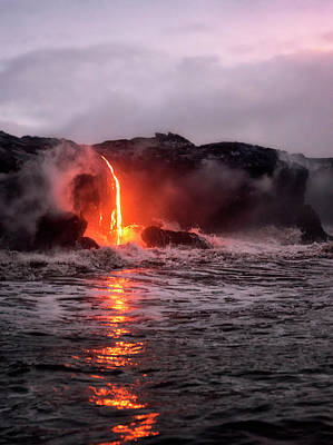Photograph - Lava Pour by Nicki Frates
