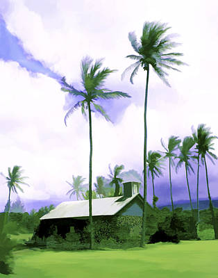 Lava Rock Church Art Print by Kurt Van Wagner
