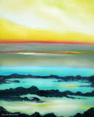 Painting - Lava Rock Sunset 2 by Gina De Gorna