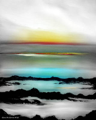 Painting - Lava Rock Sunset by Gina De Gorna