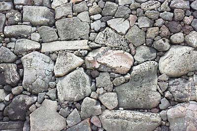 Digital Art - Lava Rock Wall 3 by Karen Dyson