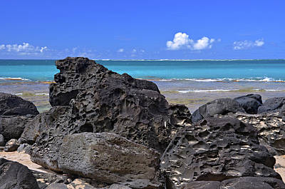 Photograph - Lava Rocks At Haena Beach by Marie Hicks