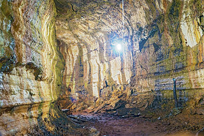 Photograph - Lava Tunel On Santa Cruz Island, Galapagos by Marek Poplawski
