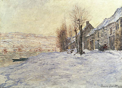 Lavacourt Under Snow Art Print by Claude Monet
