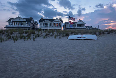 Photograph - Lavallette Nj Beach Life Guard Boat by Terry DeLuco