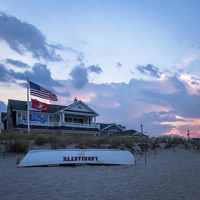 Photograph - Lavallette Nj Life Guard Boat Square by Terry DeLuco