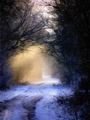 Painting - Lavander Snow  by Michele Carter