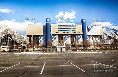 Photograph - Lavell Edwards Stadium by David Millenheft