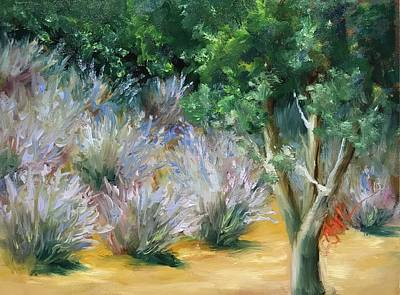 Painting - Lavendar Fields by Donna Pierce-Clark