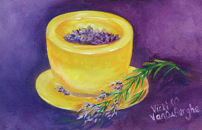Painting - Lavender And Gold by Vicki VanDeBerghe