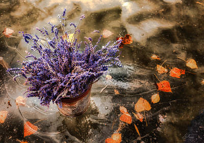 Wall Art - Photograph - Lavender And Leaves by J Thomas