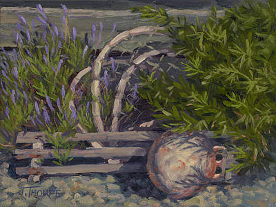 Lavender And Lobster Art Print