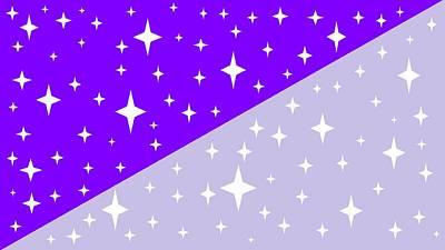 Digital Art - Lavender And Purple Starlight by Linda Velasquez