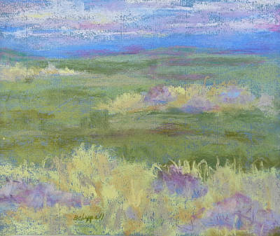Painting - Lavender And Wheat by Becky Chappell