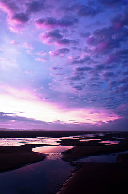 Photograph - Lavender Beach Sunset by Tyra OBryant