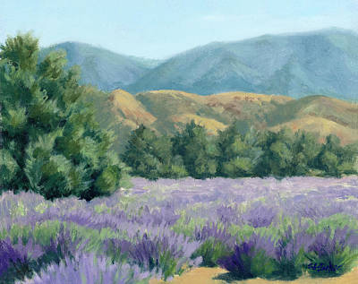 Painting - Lavender, Blue And Gold by Sandy Fisher