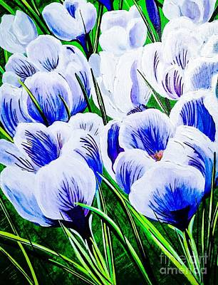 Painting - Lavender Blue Crocus by Jennifer Lake