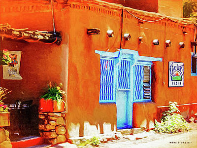 Southwest Landscape Mixed Media - Lavender Blue Door by Mona Stut
