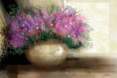 Lavender Bouquet Art Print by Harold Shull