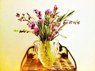Digital Art - Lavender Bouquet by Rachel Hannah