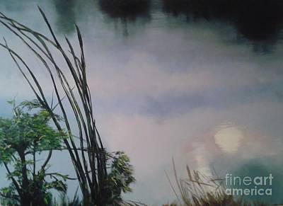 Annette Kinship Wall Art - Painting - Lavender Breakfast Behind The World by Annette Kinship
