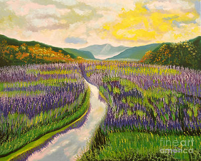 Painting - Lavender Brook by Milagros Palmieri