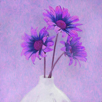 Violet Bloom Photograph - Lavender Chrysanthemum Still Life by Tom Mc Nemar