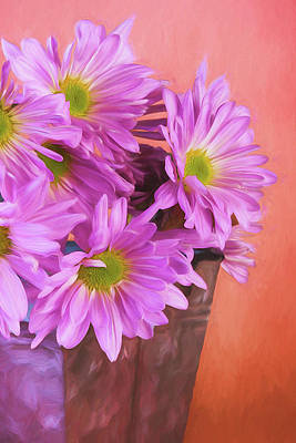 Photograph - Lavender Daisies by Tom Mc Nemar