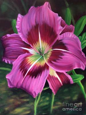 Painting - Lavender Daylily by Randy Burns