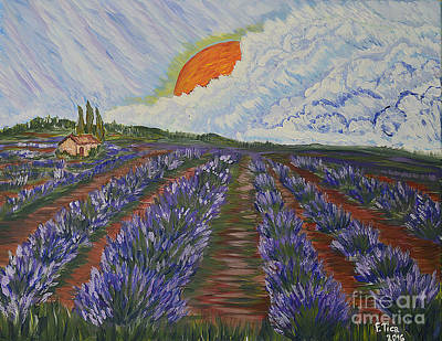 Nature Medicine Painting - Lavender Dream by Felicia Tica