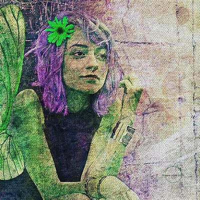 Digital Art - Lavender Faerie by Absinthe Art By Michelle LeAnn Scott