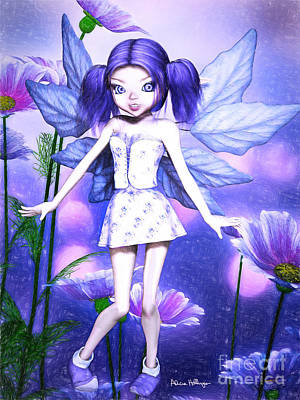 Digital Art - Lavender Fairy by Alicia Hollinger
