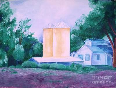 Art Print featuring the painting Lavender Farm Albuquerque by Eric  Schiabor