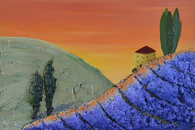 Painting - Lavender Farm by Leana De Villiers