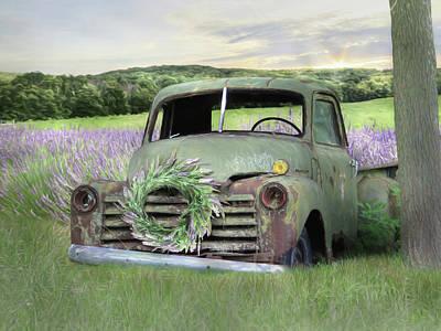 Photograph - Lavender Farm Truck by Lori Deiter