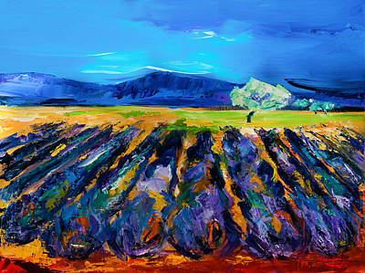 Bold Colors Painting - Lavender Field by Elise Palmigiani