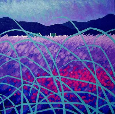 Perspective Painting - Lavender Field by John  Nolan